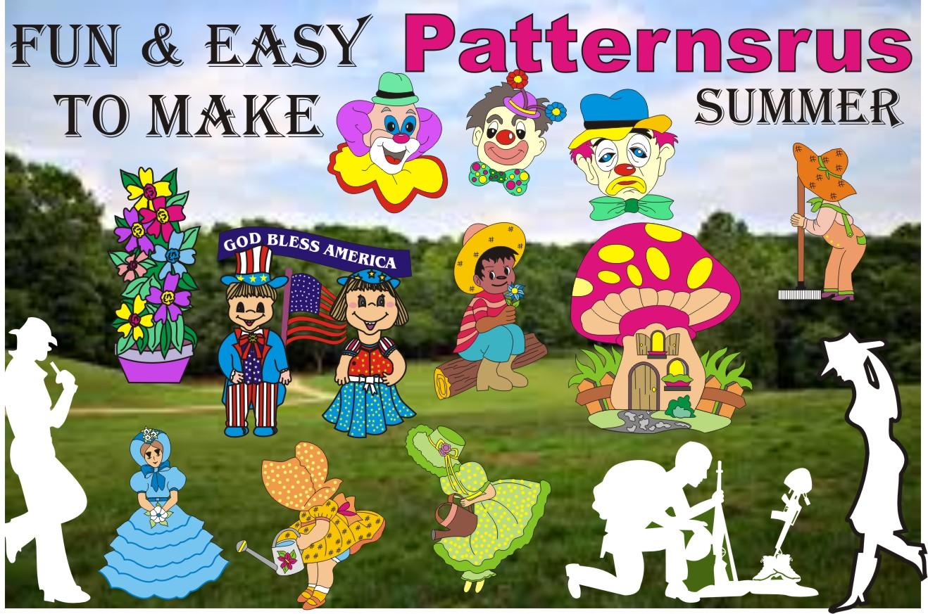 Patternsrus Summer Yard Art Woodworking Patterns Or Plans Patternsrus Seasonal Woodworking Patterns