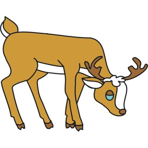 Reindeer Eating Hay Patternsrus Seasonal Woodworking Patterns